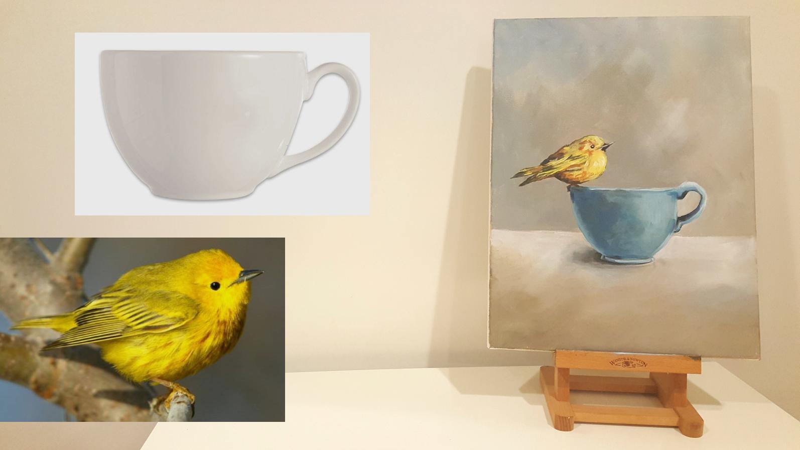 Paint a composition created from photos wokshop