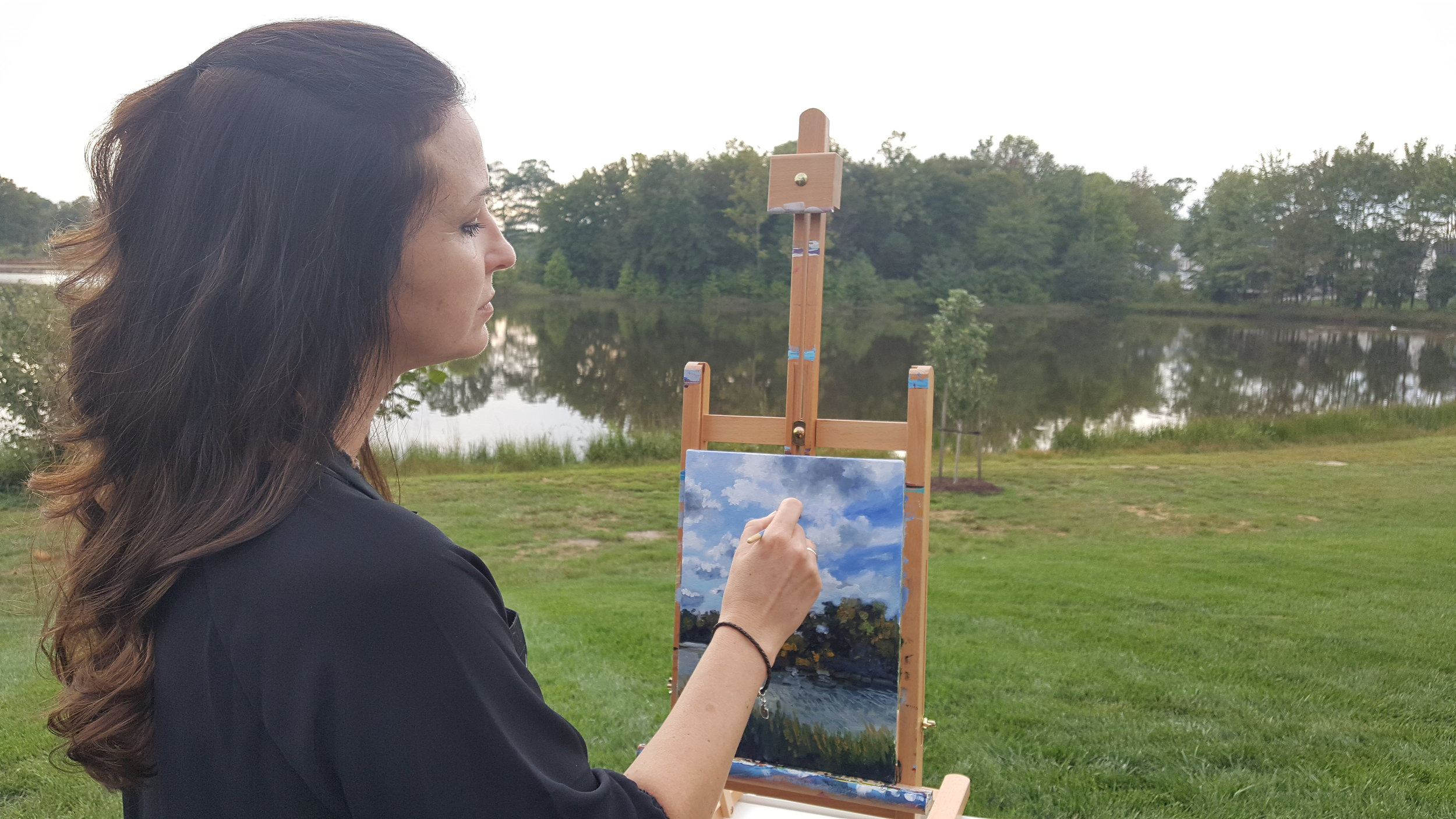 Plein air art workshop - impressionism oil on board