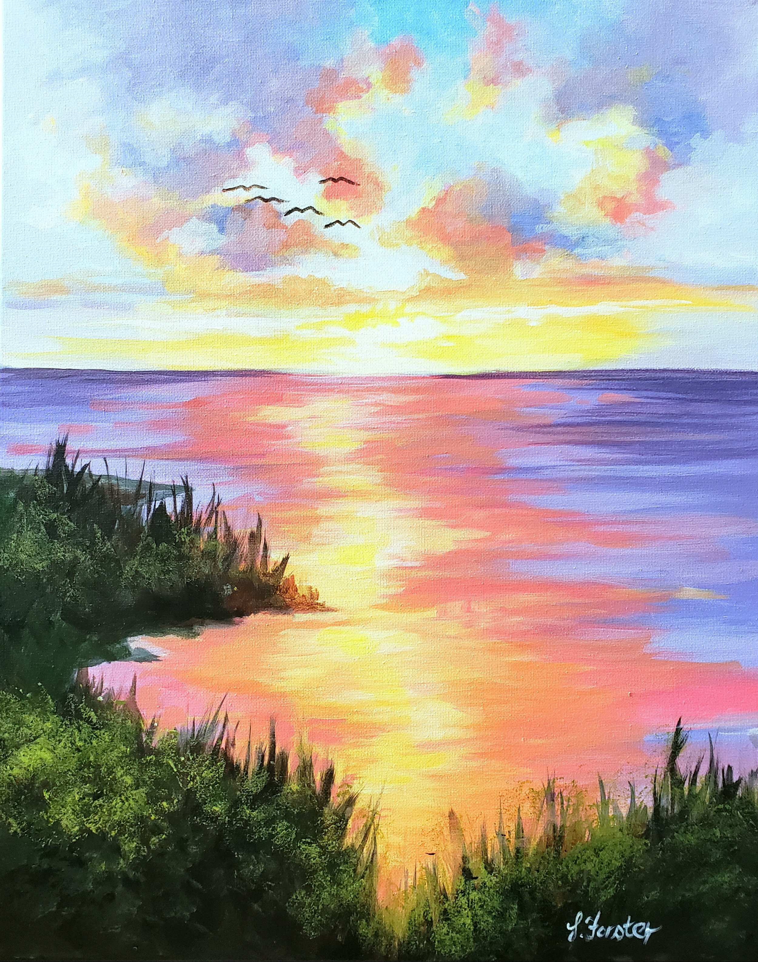 Sonja Forster Art - Sunset Over the Bay.jpg