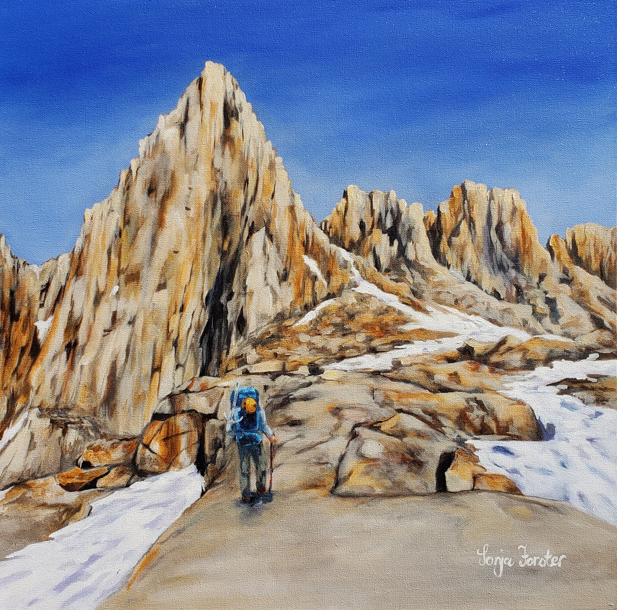 Mount Whitney Hike - Oil on blocked canvas | 24