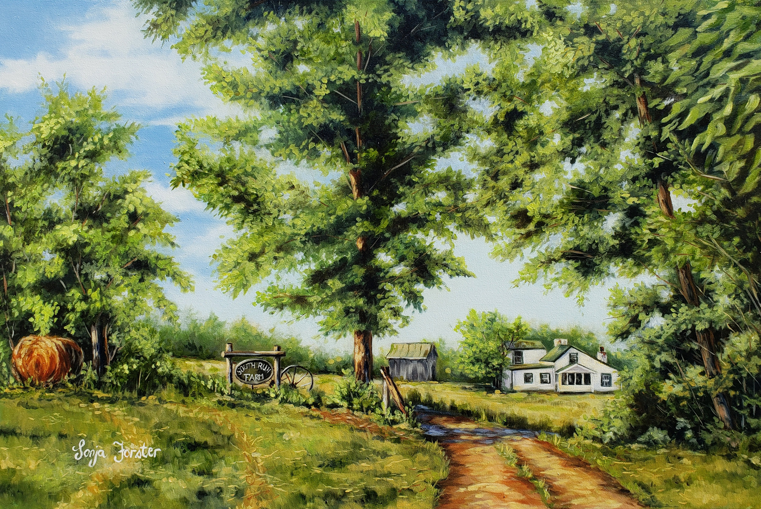 Virginia Family Farm - Oil on canvas | 18