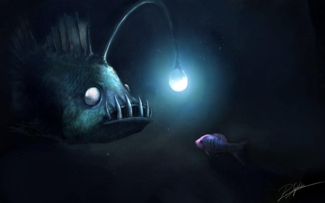 Dark depths of the sea by Panu Siipilehto on  deviantart