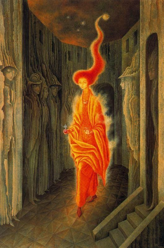 Remedios Varo, La Llamada (The Call)