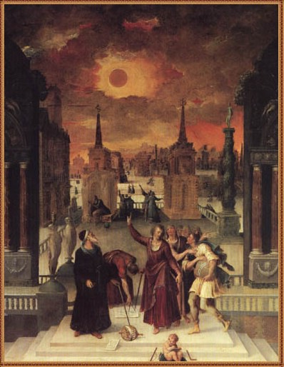 Antoine Caron, Astronomers Studying an Eclipse, 1571