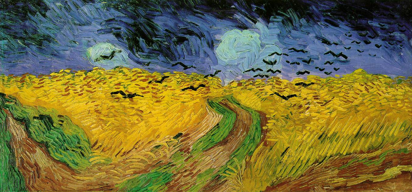 Vincent van Gogh:  Wheat Field with Crows , 1890