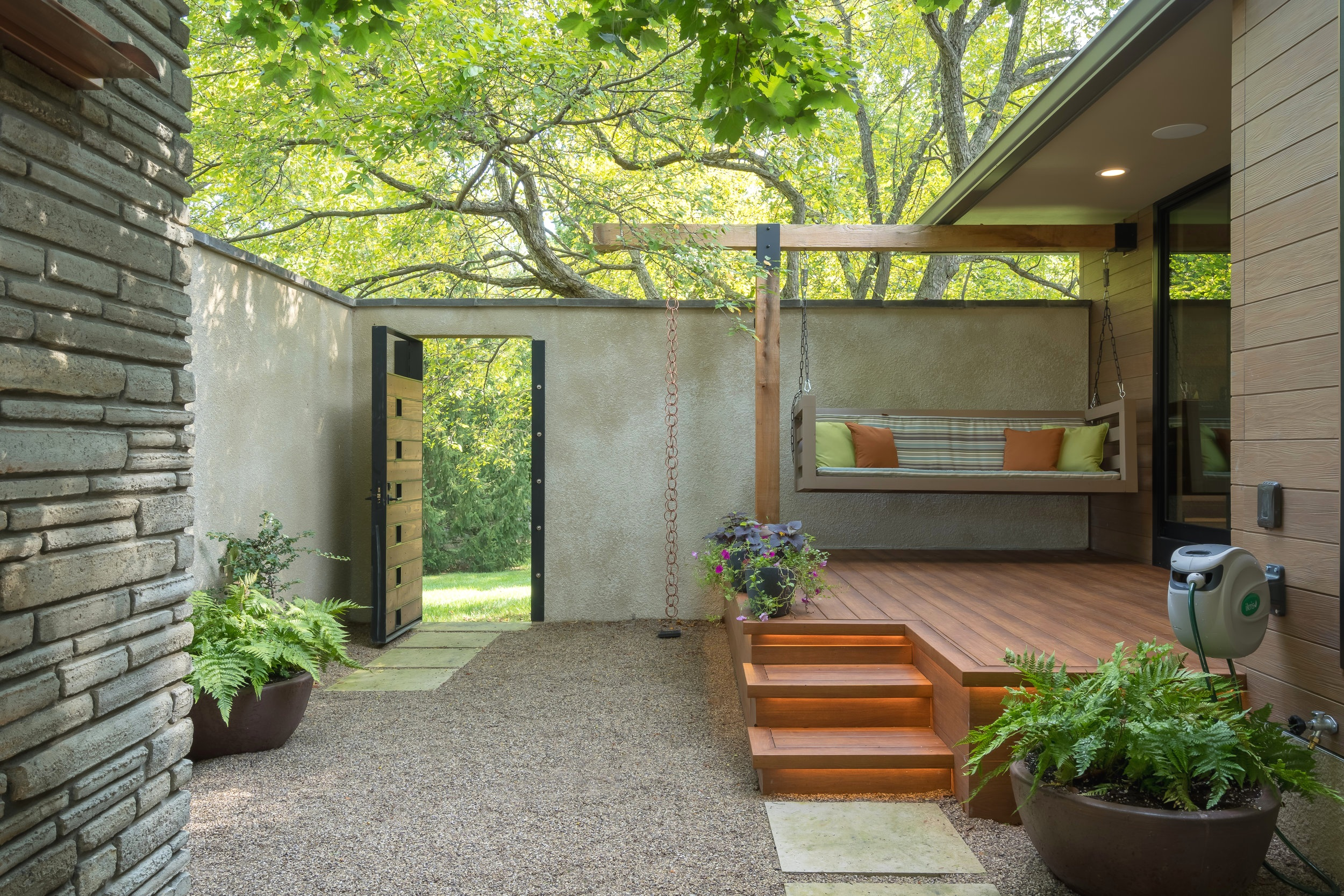 Private Courtyard designed and installed by The Cleary Company