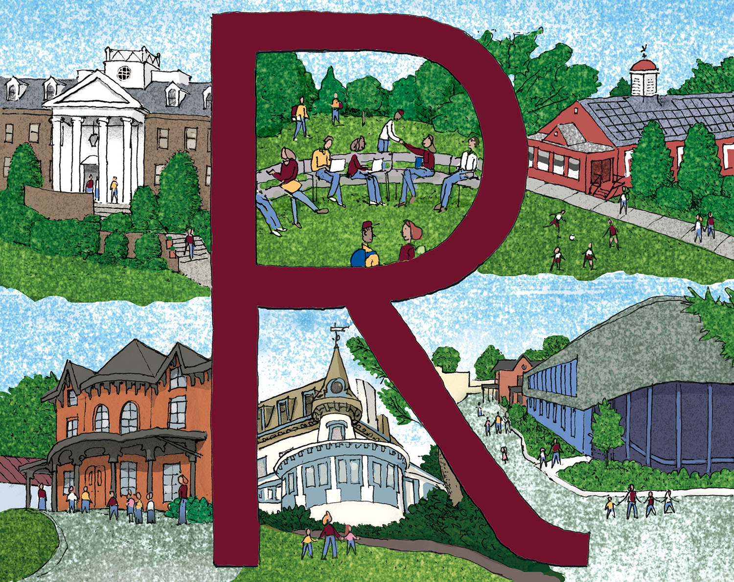 Daniel Baxter Riverdale Country School Greeting card art with red R.jpg