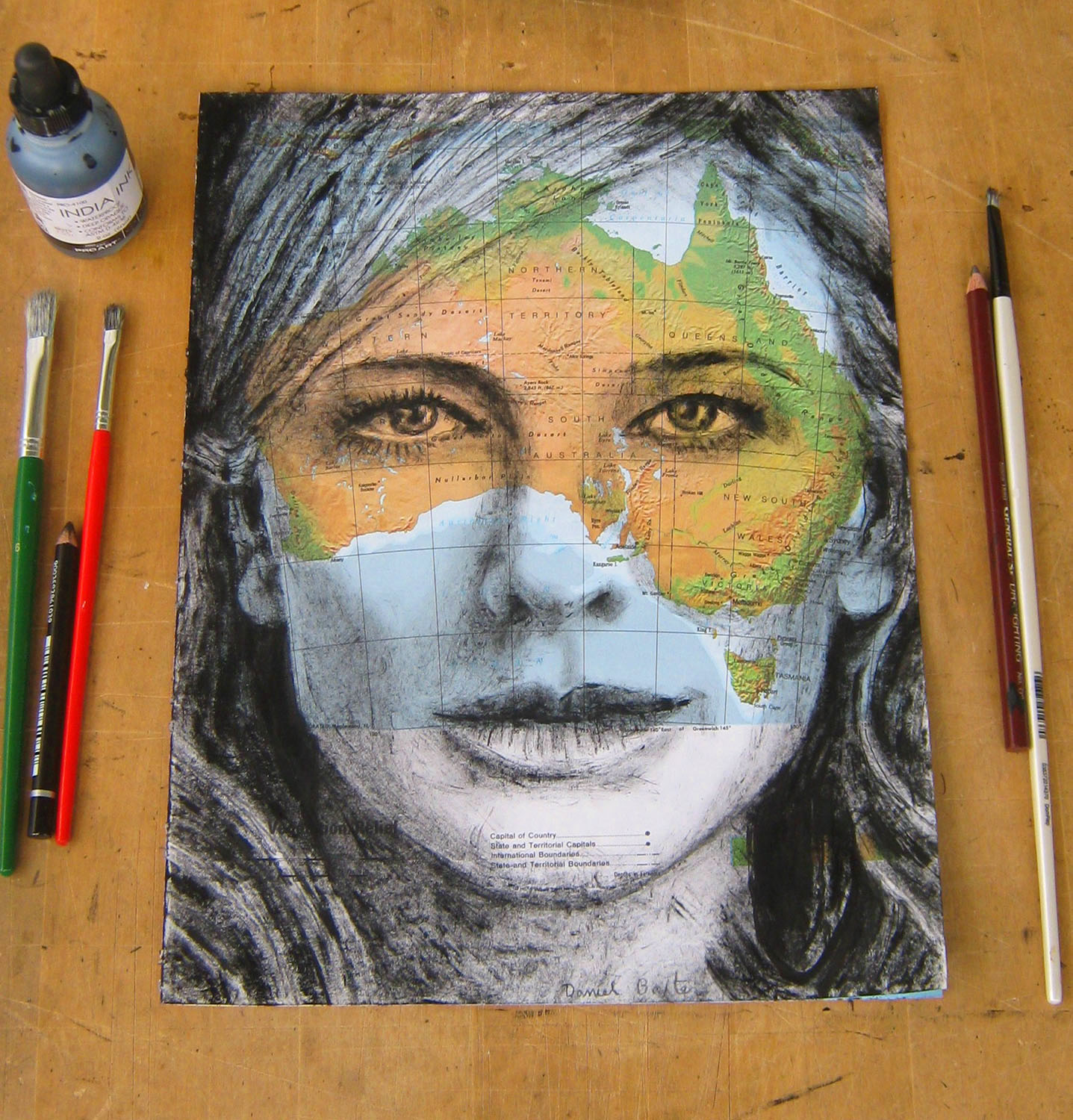 Copyright Daniel Baxter Cate Blanchett drawing photo.jpg