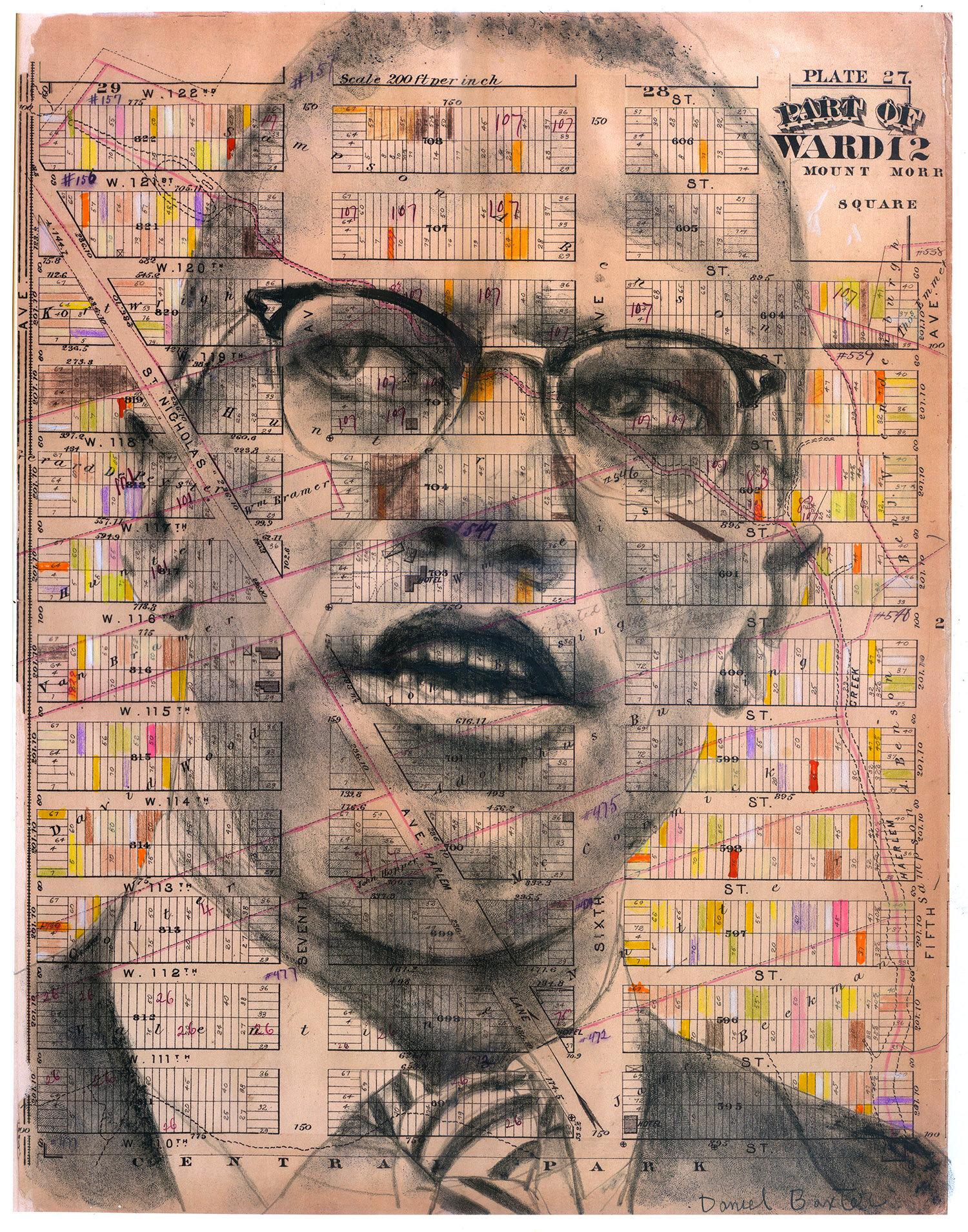 Copyright Daniel Baxter Malcolm X portrait.jpg