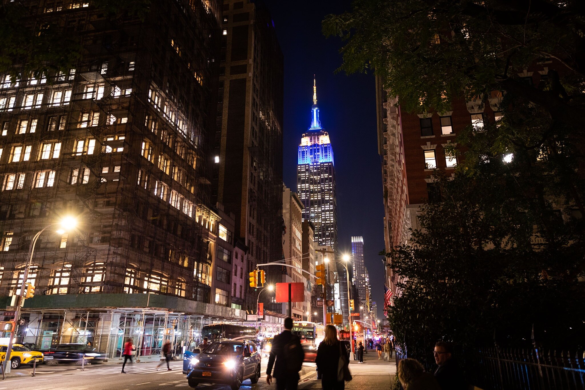The Empire State Building aglow in Covenant House colors!