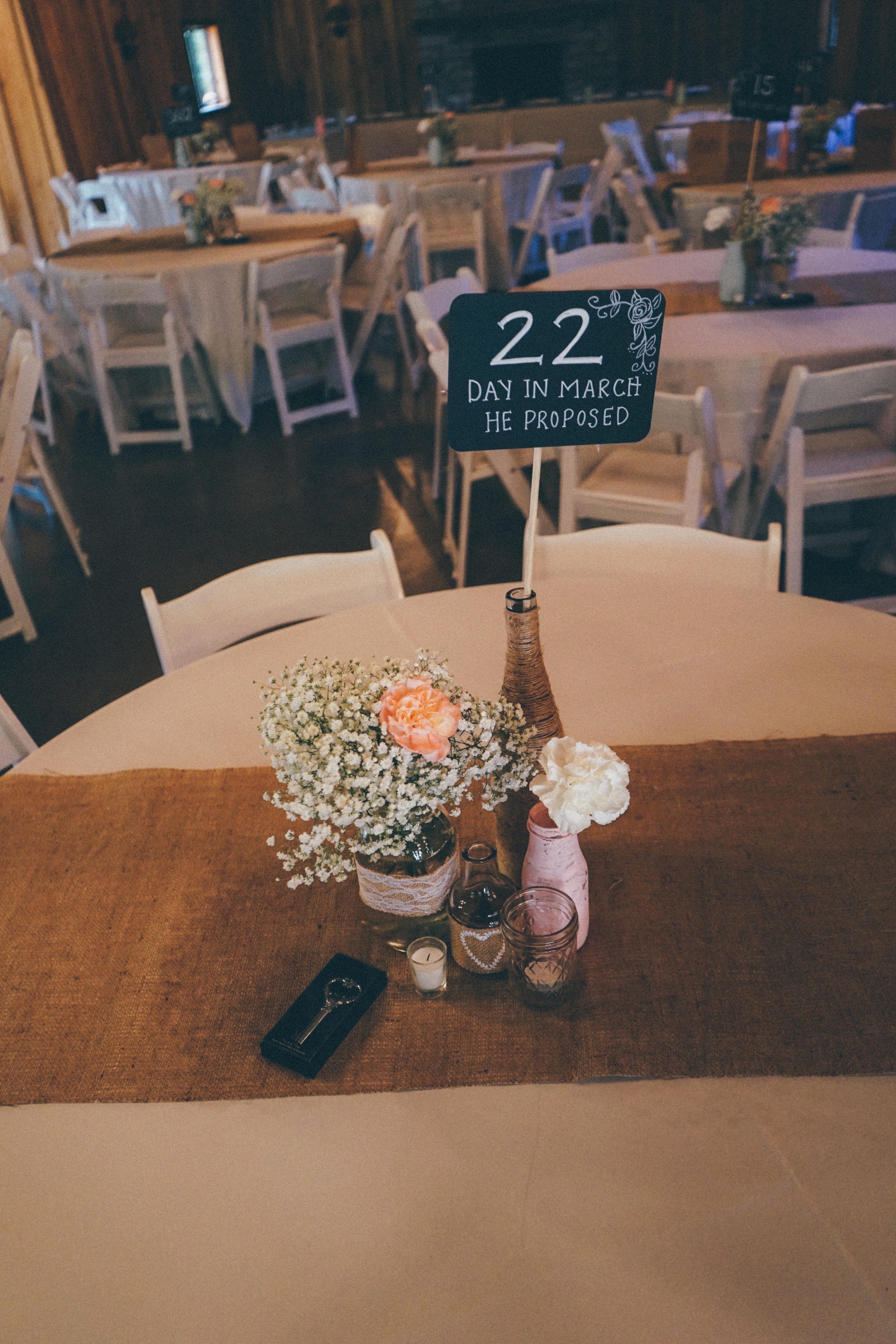 Instead of typical table numbers, we used numbers that meant something to us (like, the address of our first home, the day we started dating, and the day we got engaged). See more unique wedding ideas on the One Weddings Pinterest board:https://www.pinterest.com/oneweddings1/wedding-ideas/  Photo Credit: Matthew Garsky and Alec Fritz Photography