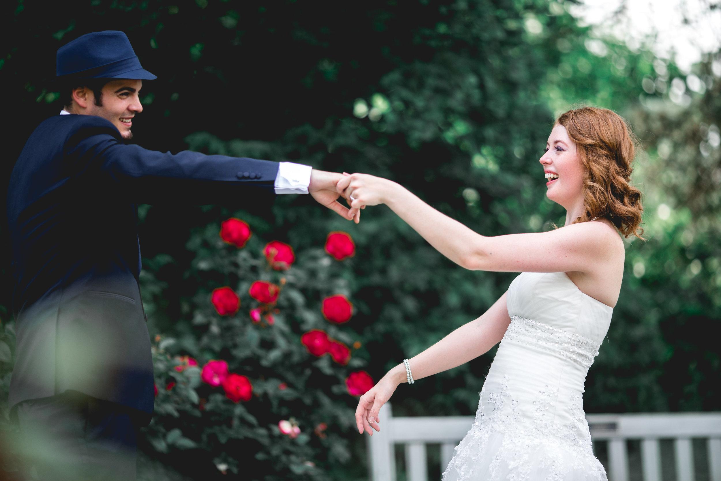 Spring Wedding Columbus Park of Roses