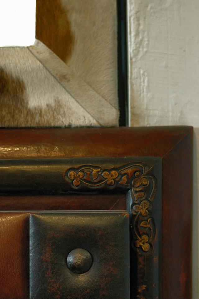 gorgeous leather & fur readymade frames