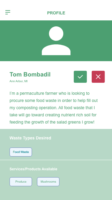 Compostable | UI Design and Prototype - I created a mobile application that addresses the reallocation of compostable waste from restaurants and other businesses to area farms/compost piles that will use said waste to a productive end. I crafted this prototype from ideation to high fidelity prototype, check it out!