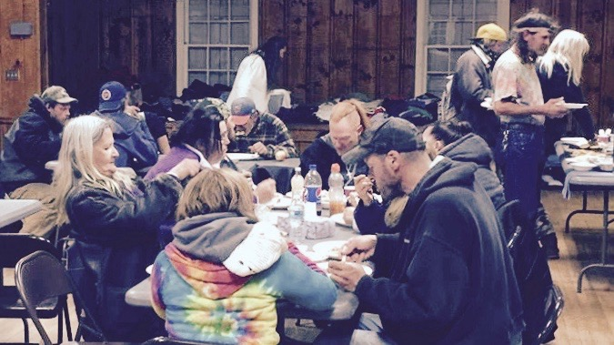 Dinner, Seaman's Lodge, Nevada City.   Volunteers are needed year round to help prepare hot lunches and, in winter months, to help provide extreme weather shelter.