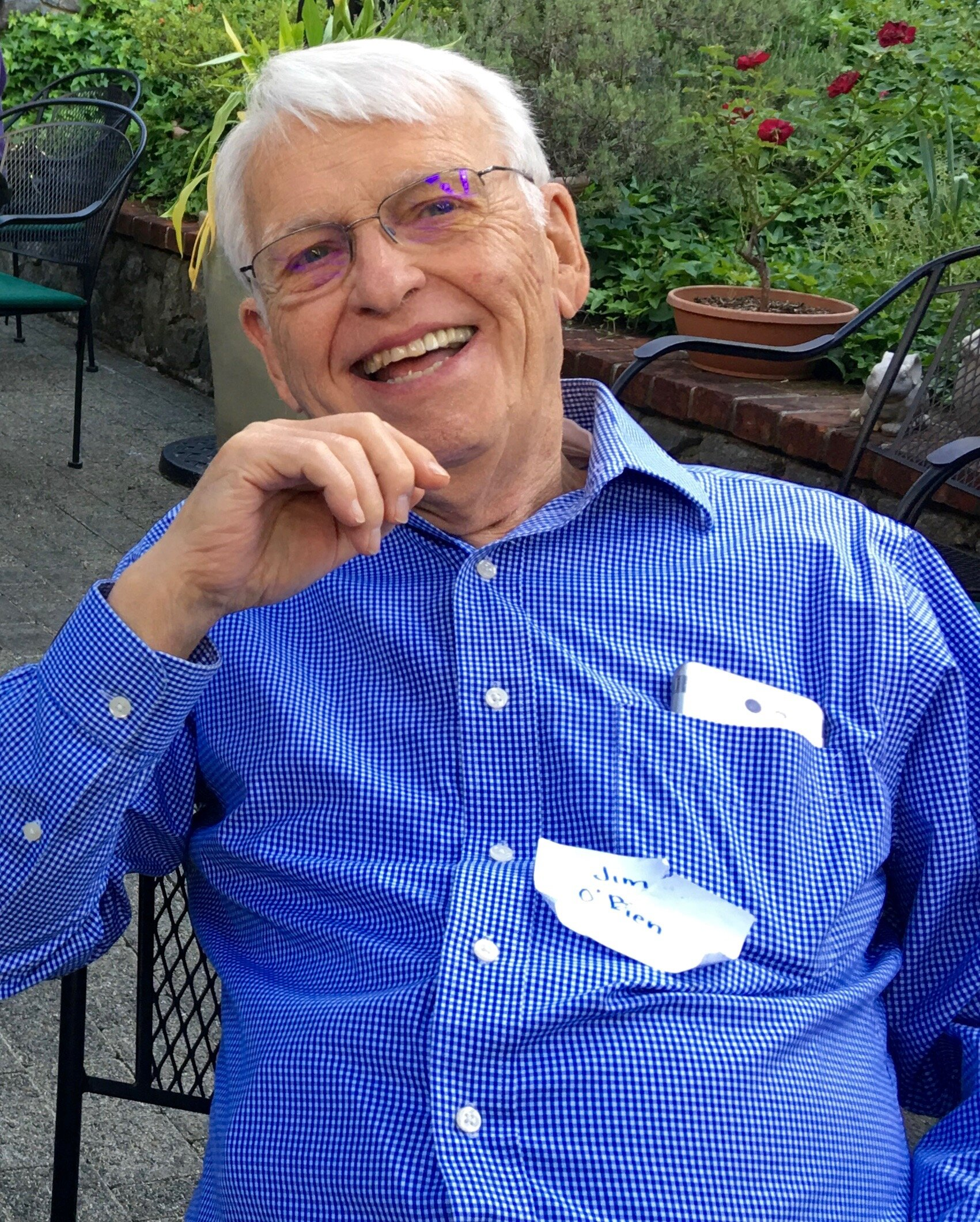 Jim at the Sierra Roots Community Builders Dinner in Grass Valley, May 29, 2019