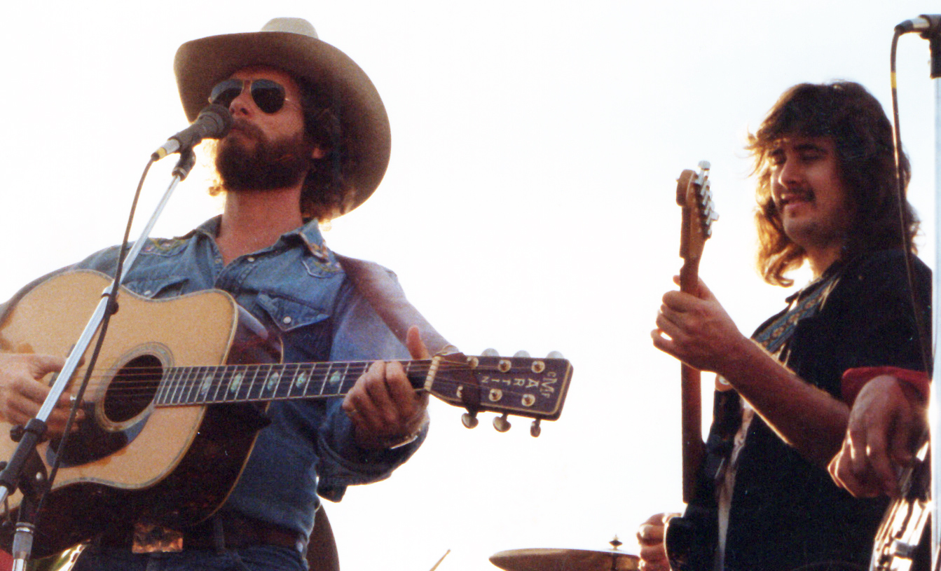 Jan Carritt (left) and Vince Gill (right) circa 1980 at The Landing in Redondo Beach, California.