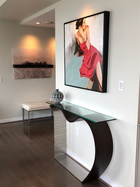 Custom Wenge Console Table