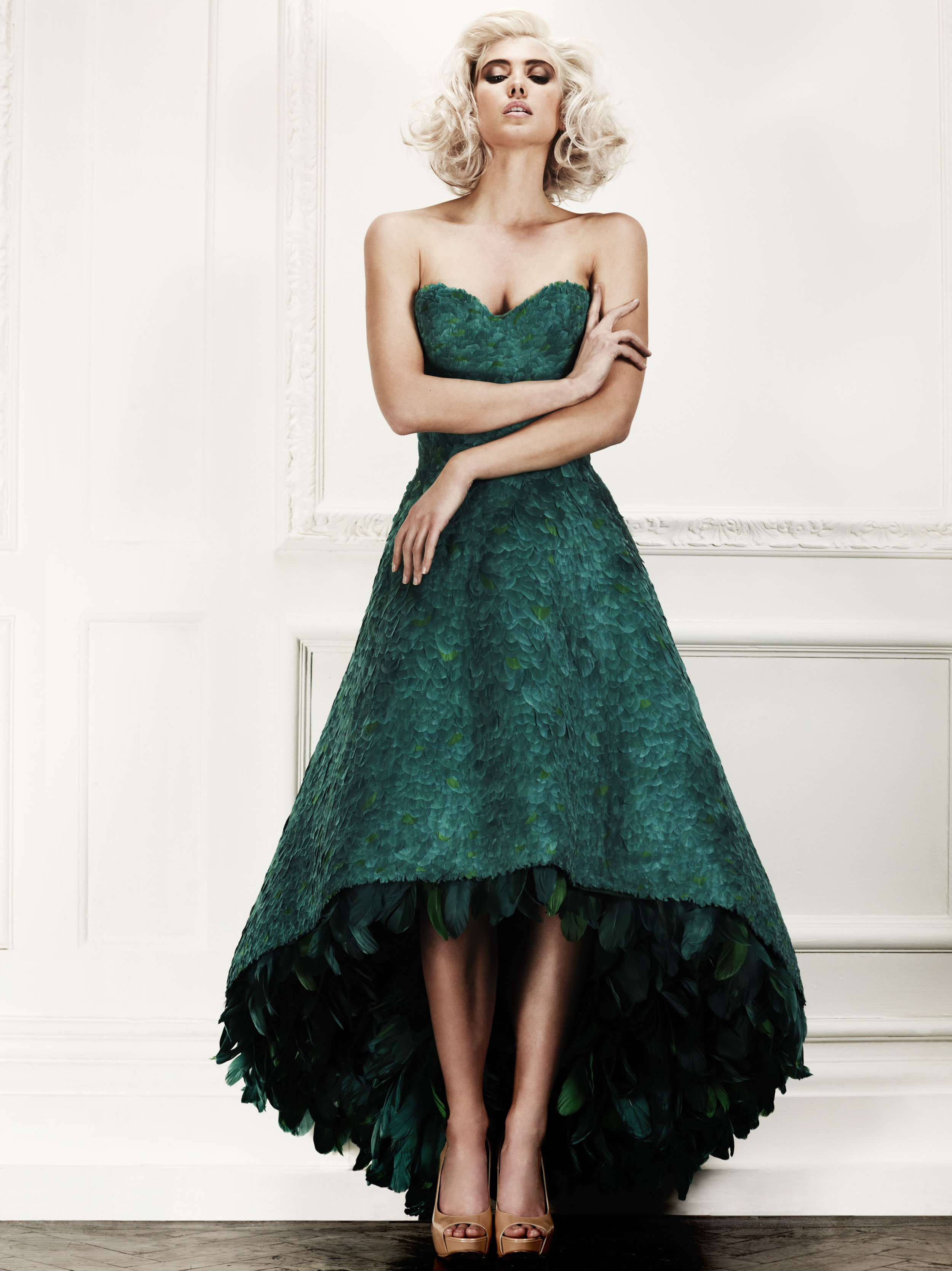 This is one of the hand made exquisite dresses that was shown during the Afternoon Tea -priced at £40,000!
