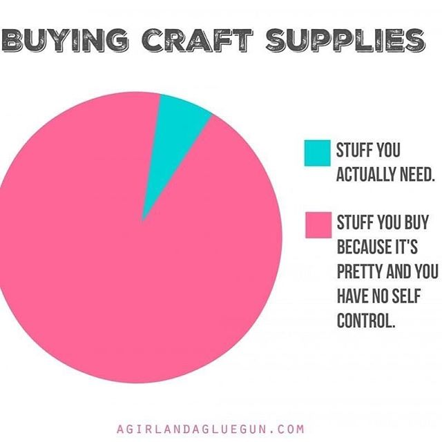 Anybody else out there like me on this one?!?! Great thing about our classes, we provide you with the supplies for a completed project! No temptation from a store! (But we'll also help make your shopping list if the craft bug bites ya 😉) . . . #makersgonnamake #craftloverepeat #craftyaf