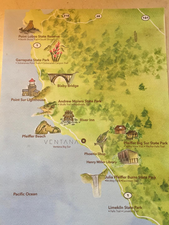 California Redwoods Map on