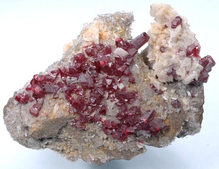 Cinnabar crystals