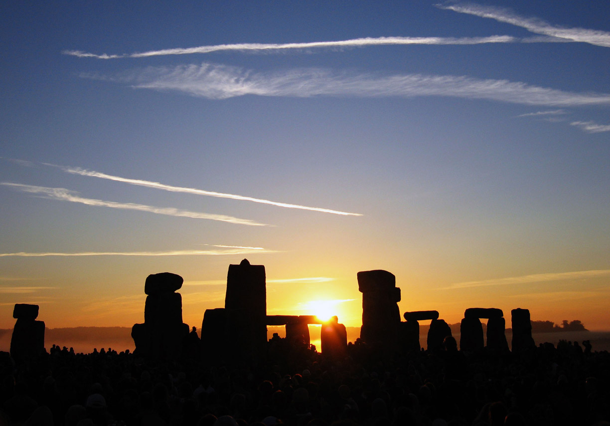 Sunrise at Stonehenge on the summer solstice