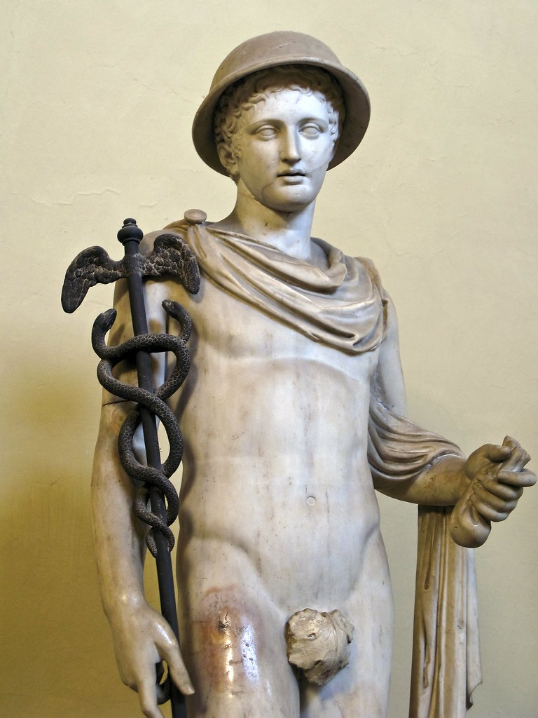 Statue of Hermes from the Musei Vaticani, Rome, by Justin Norris
