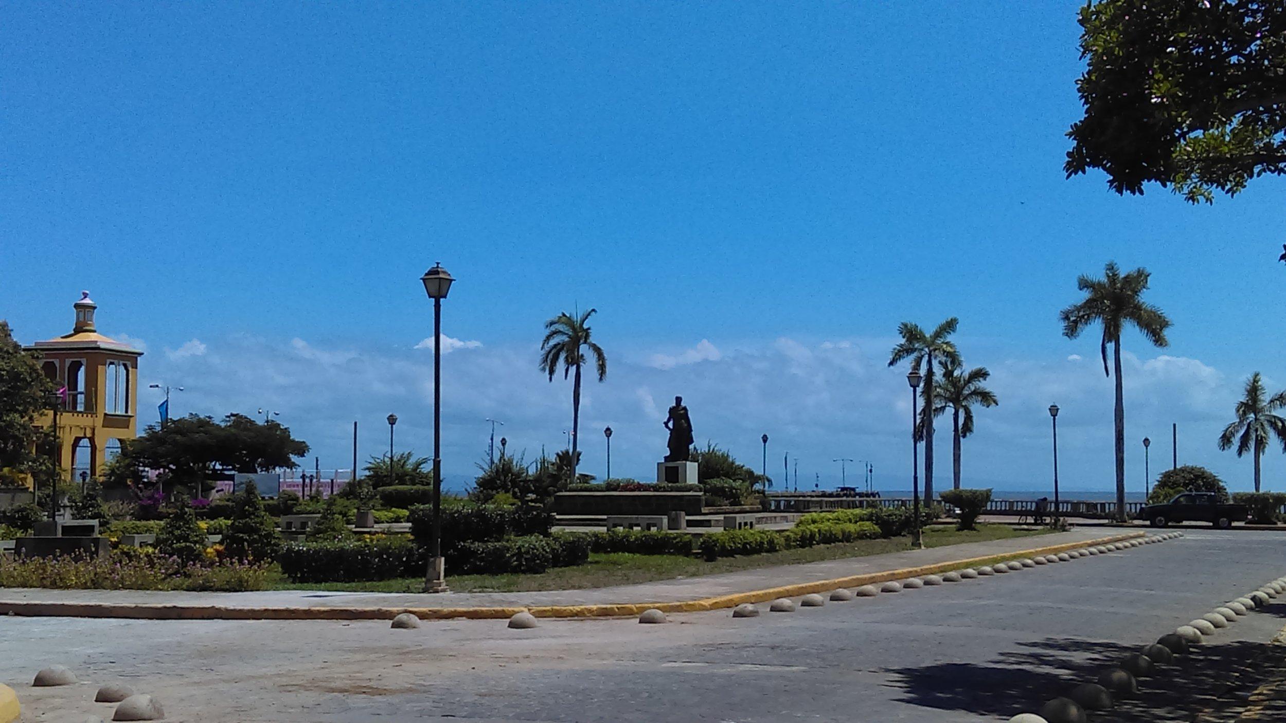Granada's coast of Cocibolca or Lake Nicaragua in English