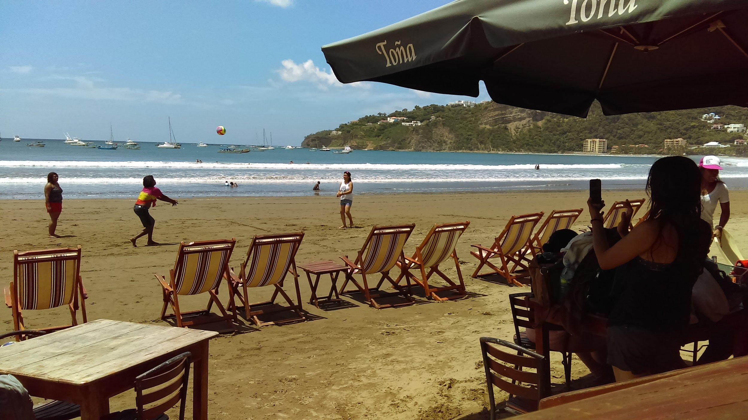 Beach time on the west coast in the famous surf town, San Juan del Sur. Looks fine to me!