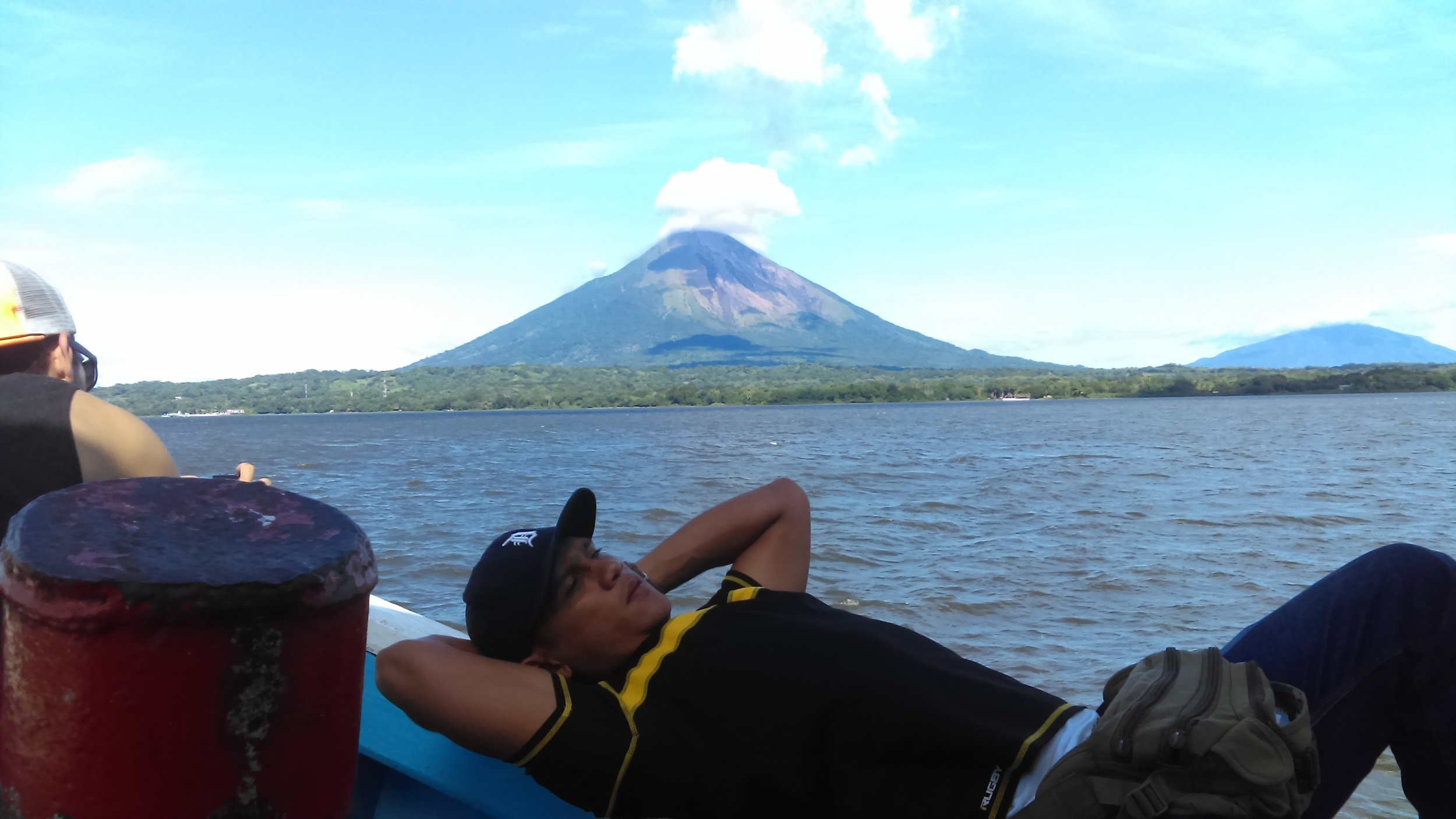 A local ferry-man on the lake voyage to the volcanic island of Ometepe. One of Nicaragua's treasures!