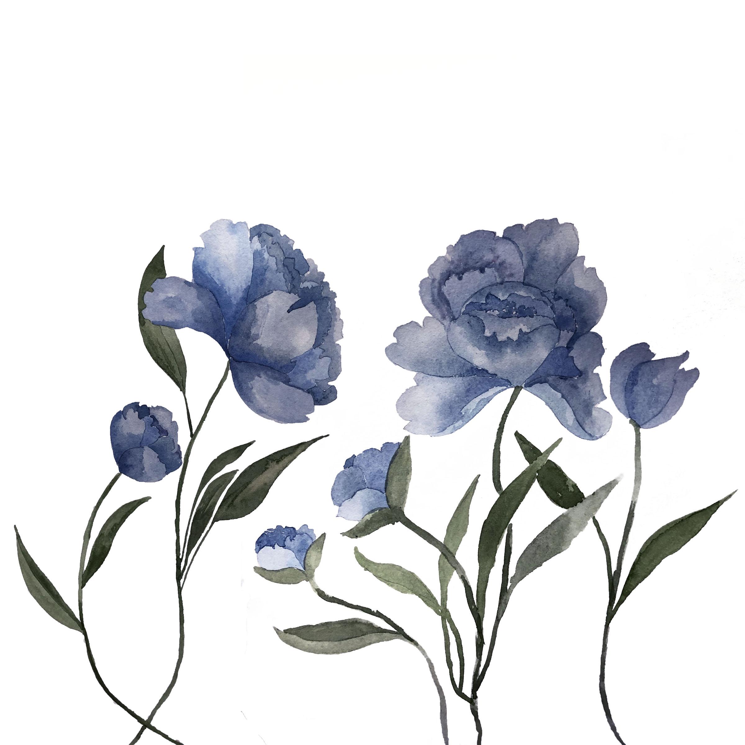 Blue Peony In Progress.jpg