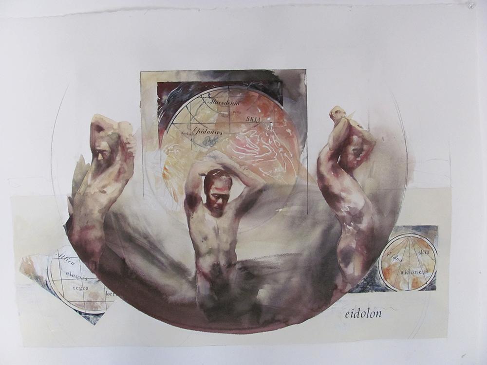 Eidolon,  22 x 30 inches, watercolor, 2012