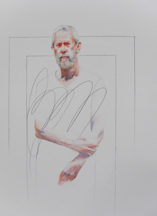 David , 20 x 30 inches, watercolor, 2013