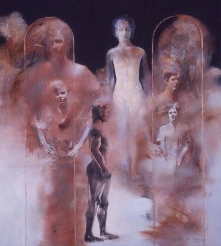 Eidolon , 52 1/2 x 47 1/2 inches, oil on canvas, 2003