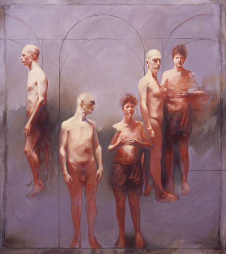 Epistrophe , 61 x 51 inches, oil on linen, mounted on masonite, 2003