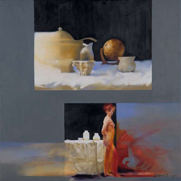 Forms , 22 x 22 inches, oil on canvas, 2006