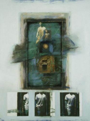 Kouroi , 49 1/2 x 37 1/2 inches, oil on canvas, 2003