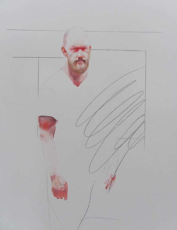Matt , 20 x 30 inches, watercolor, 2013