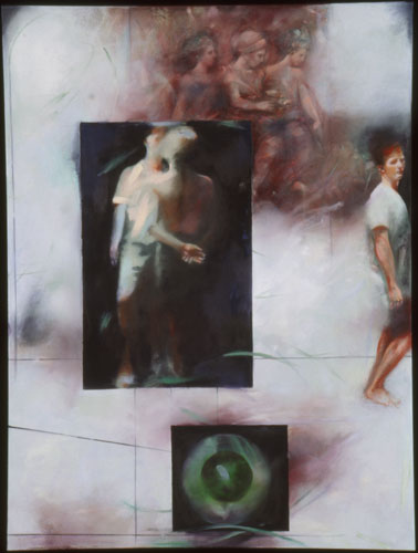 Peter Visits the Museum of Desire , 49 1/2 x 37 1/2 inches, oil on canvas, 2002
