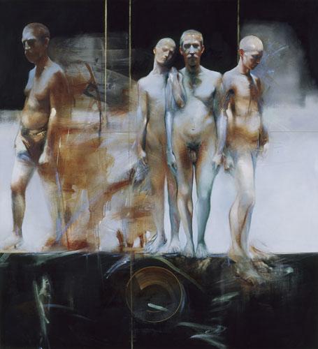 Puer/Senex I , 64 x 58 inches, oil in canvas, 2001