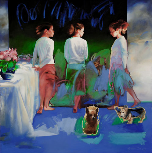 Susan Owen Tooey , 50 x 50 inches, oil on canvas, 2005