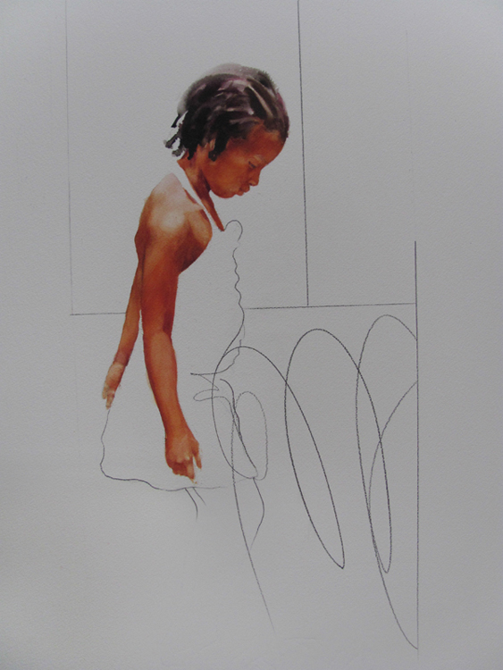 Tadu,  20 x 30 inches, watercolor, 2013