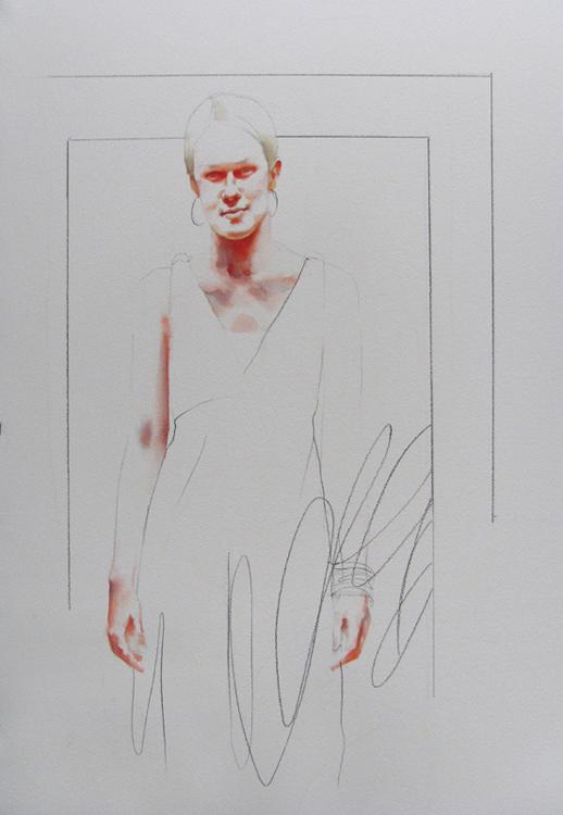 Tracie , 20 x 30 inches, watercolor, 2013