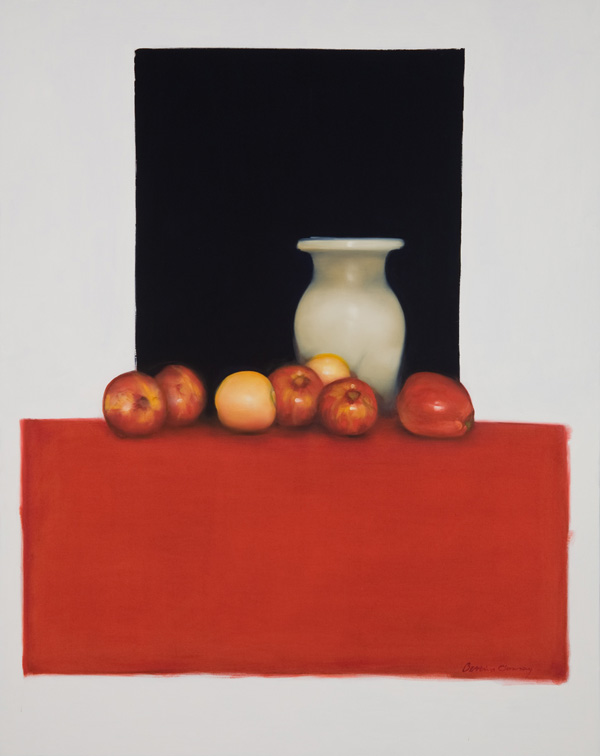 Apples , 48 x 60 inches, oil on canvas, 2008