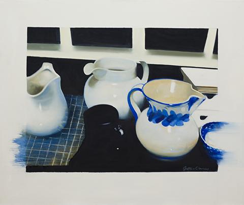 Black Mug,  37 1/2 x 31 1/2 inches, oil on canvas, 2013