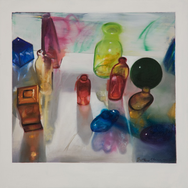 Bottles III , 24 x 24 inches, oil on canvas, 2006