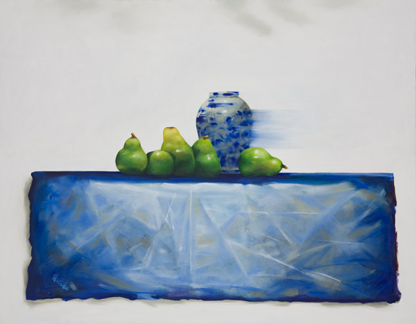 Five Pears , 60 x 47 inches, oil on canvas, 2008