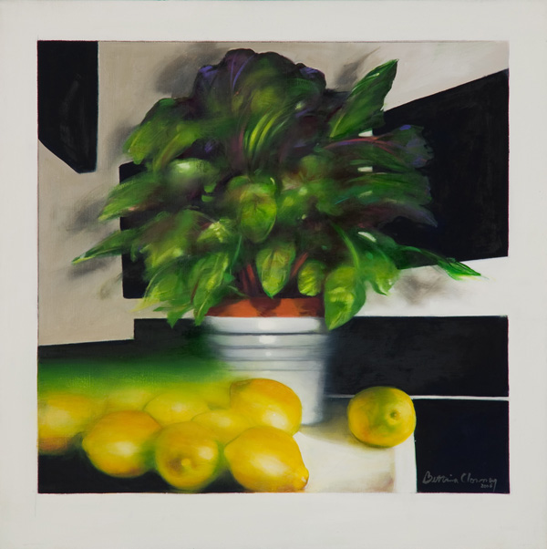 Lemons I , 22 x 22 inches, oil on canvas, 2006