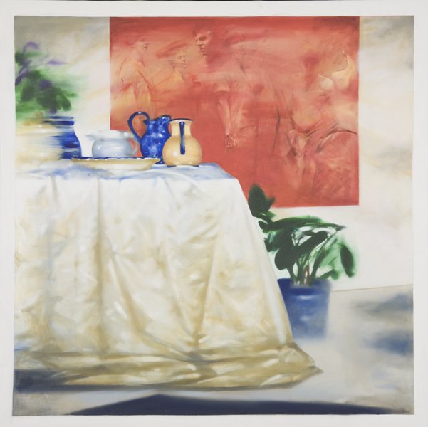 Studio,  62 x 62 inches, oil on canvas, 2009